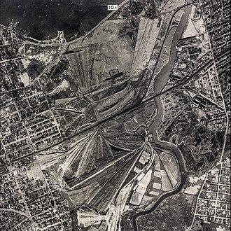 Flushing Meadows–Corona Park - Aerial view of the Corona Ash Dumps, circa the early 1920s