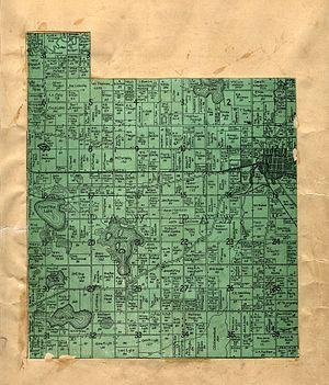 Paw Paw Township, Michigan - Image: Van Buren County Michigan 1906 Paw Paw Township