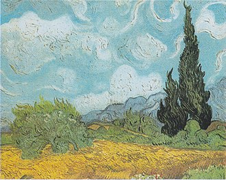 Wheat Field with Cypresses - Image: Van Gogh Weizenfeld mit Zypressen 4