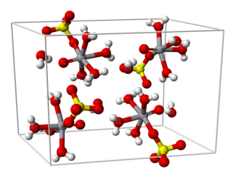 Vanadyl sulfate - Image: Vanadyl sulfate pentahydrate unit cell 3D balls
