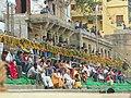 Varanasi 50a - spectators prepared for Nag Nathaiya performance (23959209488).jpg