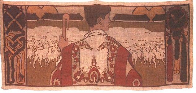 Vaszary János A pásztor szőnyeg 1906