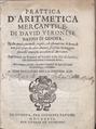 Veronese - Prattica d'aritmetica mercantile, 1627 - 4750797.tif