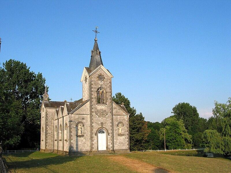 Vervoz   (Belgium),  the St. Hubertus chapel  (1867).