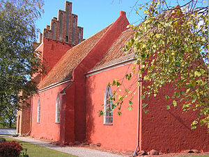 Vester Egesborg Church - Image: Vester Egesborg Kirke, Næstved 2009 10 13 011