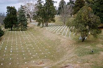 Vicksburg National Military Park - Image: Vicksburg cemetery 1956