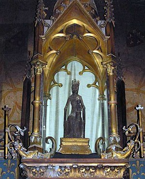 Rocamadour - The statue of the venerated Black Virgin