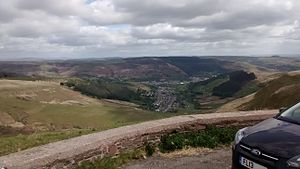 A4107 road - Image: View from Bwlch y Clawdd