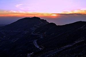 Jabal Jais - Image: View from Jabal Jais