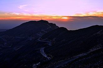 Jebel Jais - Image: View from Jabal Jais