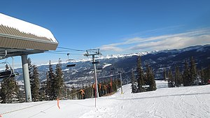 Breckenridge Ski Resort - The Falcon SuperChair services a variety of advanced trails, ranging from groomed blacks to glades on the north side and chutes on the south side