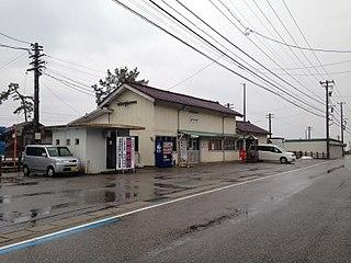 Amaharashi Station Railway station in Takaoka, Toyama Prefecture, Japan