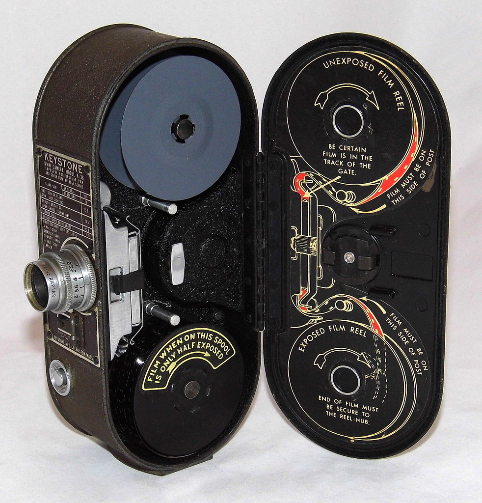 File:Vintage Keystone 8mm Home Movie Camera, Model K-36