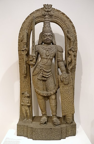 File:Virabhadra, Karnataka, India, 1500s AD, stone - Dallas Museum of Art - DSC05074.jpg