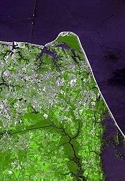 Virginia beach from space