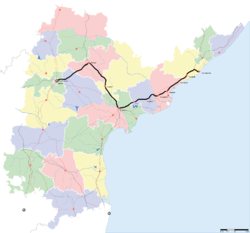 Visakhapatnam Garibrath Express map.PNG