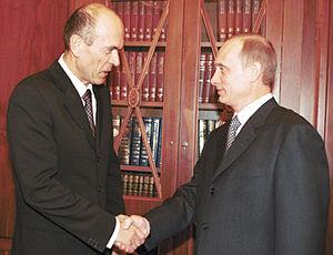 Janez Drnovšek - Drnovšek with Vladimir Putin in 2001