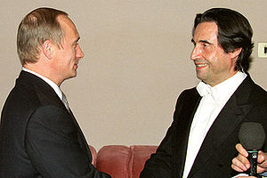 Riccardo Muti - Muti with Vladimir Putin after a performance in Moscow, 1 June 2000