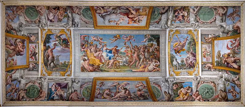 File:Volta della Galleria Farnese dopo il restauro del 2015.jpg