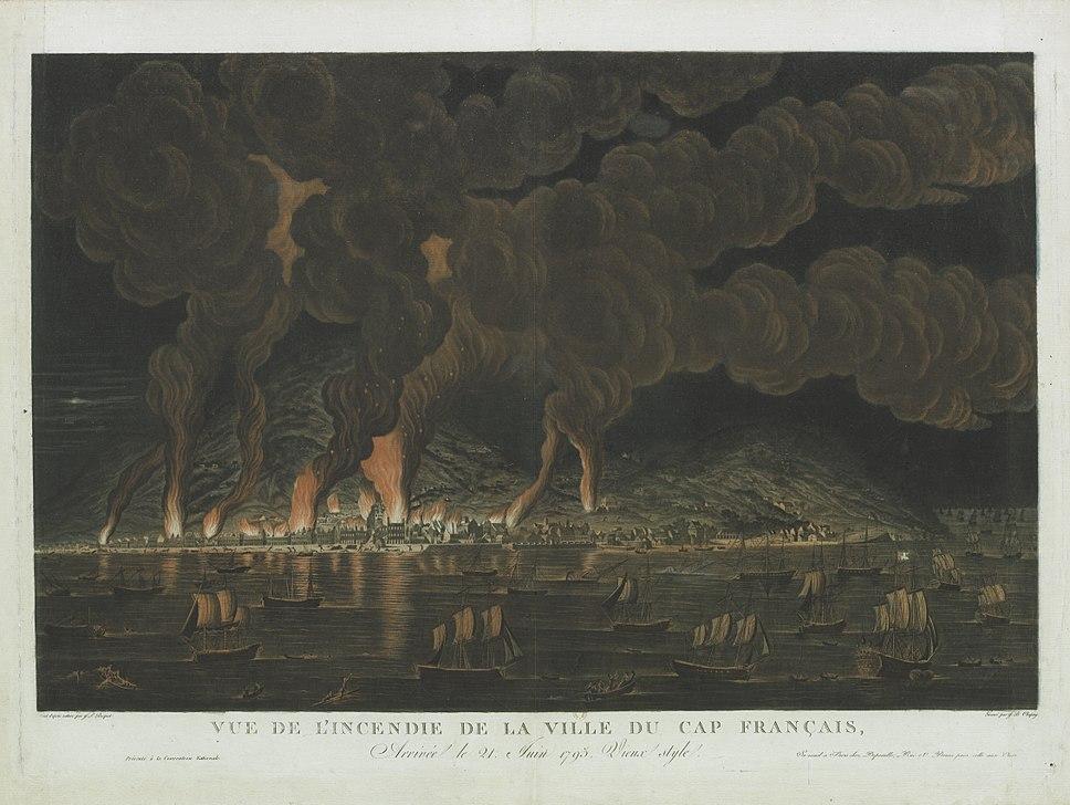 Vue de l'incendie de la ville du cap français f1.highres