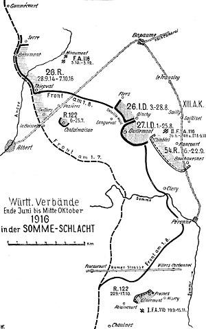 Battle of Morval - Image: Württ. Verbände Somme schlacht 1916