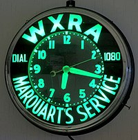 A WXRA Promotional Clock ca. 1948-1957