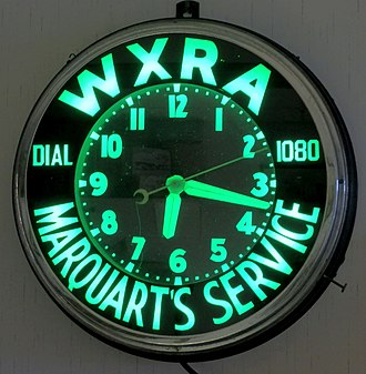 WUFO - A WXRA Promotional Clock ca. 1948-1957