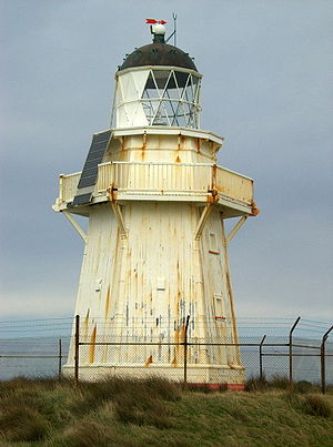 Lighhouse in the Catlins area. Note the conver...