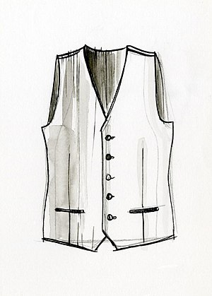 Vest - 18th Century European Waistcoat Depiction