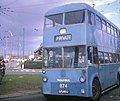 Walsall trolleybus turning at Cavendish Road - geograph.org.uk - 1324833.jpg