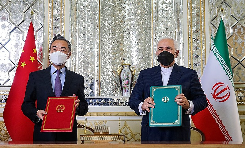 File:Wang Yi and Mohammad Javad Zarif at the Ministry of Foreign Affairs of Iran 2021-03-27.jpeg