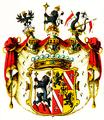 Wappen der Grafen von Zierotin, Freiherren von Lilgenau 1740.png