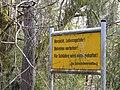 Warnschild im Mühldorfer Hart.JPG