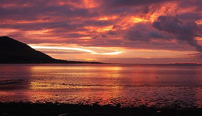 Ирландское море восход над заливом