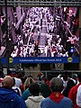 Watching Video of Morning's Bull Run - San Fermin Festival - Pamplona - Navarra - Spain (14610421282).jpg