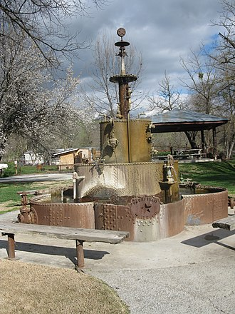 Parkfield, California - Image: Water fountain in Parkfield