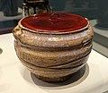 Water jar, Agano kilns, Kamanokuchi kiln, Momoyama period, 1610-1630, stoneware, wood-ash and rice-straw-ash glazes, lacquer lid - Freer Gallery of Art - DSC04776.jpg