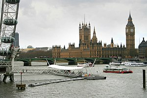 Tideway - River traffic around Waterloo Pier in 2008