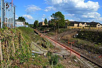 Watford West railway station - The remains of the station in May 2014.
