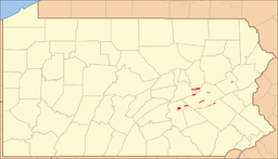 Location of Weiser State Forest in Pennsylvania