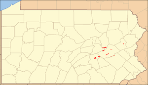 Locator Map of Weiser State Forest, Pennsylvan...
