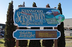 Welcome sign in eastern Stanwood