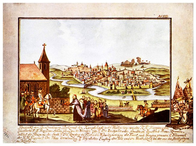 Welcoming the Prince of Saxa-Coburg by the Metropolitan and boyars, 1789