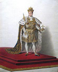 Ferdinand I. im lombardo-venezianischen Krönungsornat (1838) (Quelle: Wikimedia)