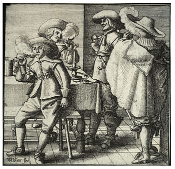 Wenceslas Hollar - Four smokers