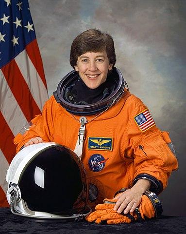 Astronaut Wendy B. Lawrence, NASA photo jsc2004-e00590 (10 December 2003)Source: Wikipedia (spaceflight.nasa.gov killed 25 Feb 2021) 383px-Wendy_Lawrence_NASA_STS114.jpg