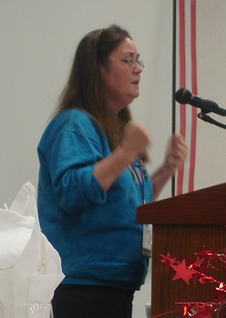Wendy McElroy - Wendy McElroy speaking in Springfield, Illinois, September 16, 2006