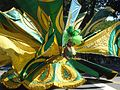 West Indian Day Parade 2008-09-01 woman in green costume.jpg