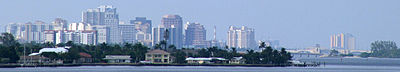 West Palm Beach skyline from the south.