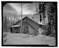 West side; view to east. - Guy M. Nielson Cabin, Big Springs Summer Home Area, Lot 3, Block E, Island Park, Fremont County, ID HABS ID-128-3.tif